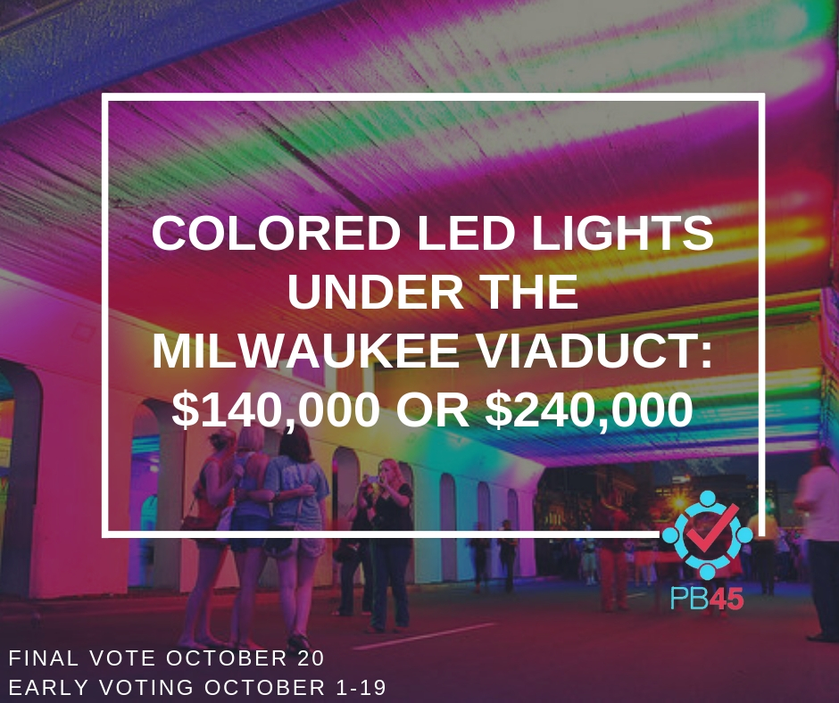 Viaduct Colored LED Lights